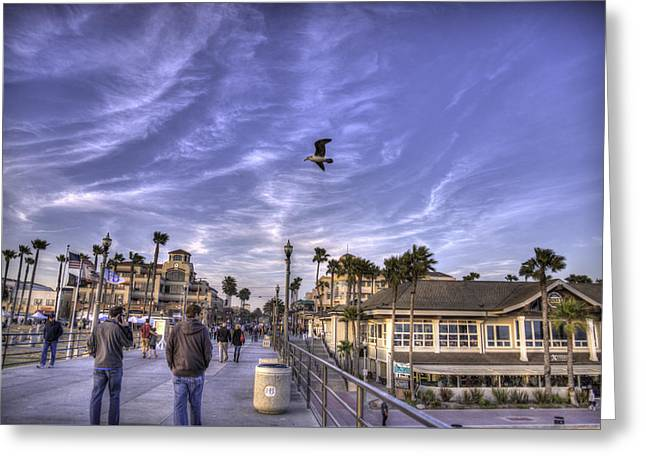Beach People Greeting Card by Spencer McDonald