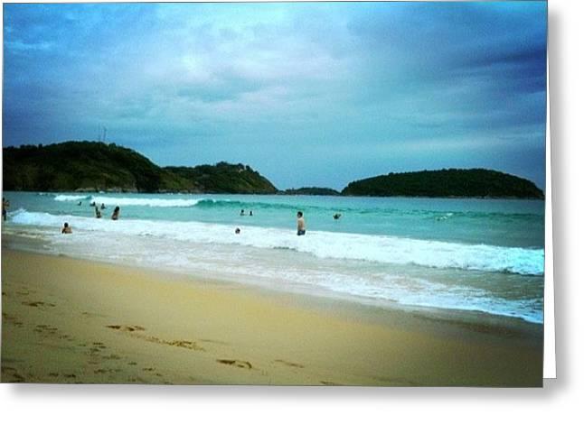 #beach #phuket #thailand #naiharn Greeting Card