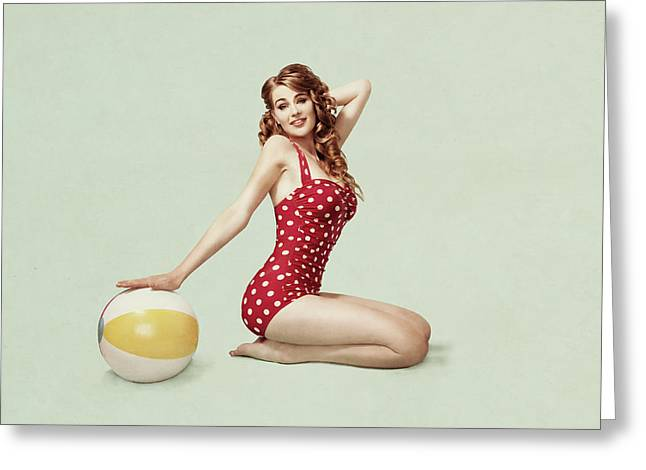 Beach Pin Up Greeting Card