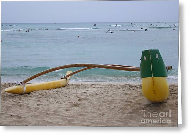 Beach Play Greeting Card by Mary Deal