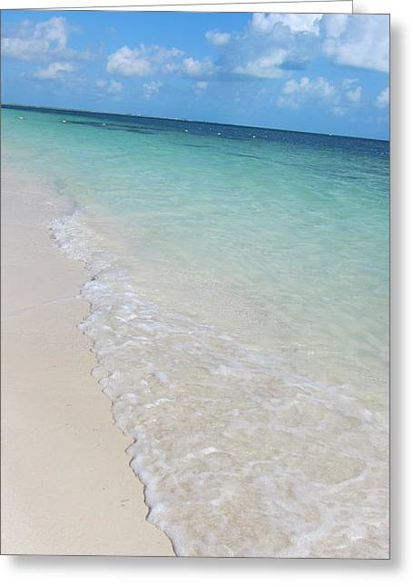 Beach Playa Mujeres Greeting Card