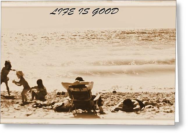 Beach Postcard Greeting Card by Dan Sproul