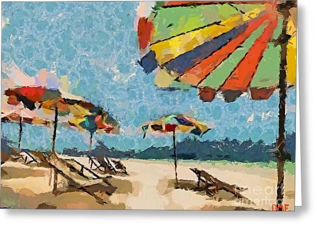 Beach Rainbows Greeting Card by Dragica  Micki Fortuna