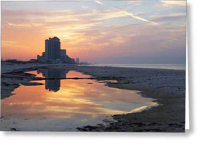 Beach Reflections Greeting Card by Michael Thomas