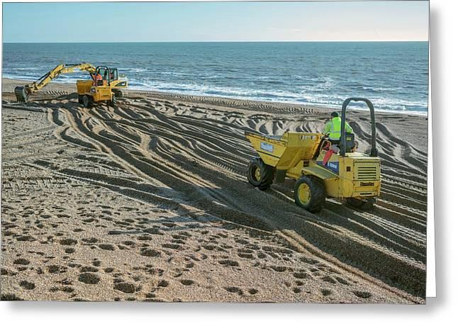 Beach Repair Greeting Card by Robert Brook