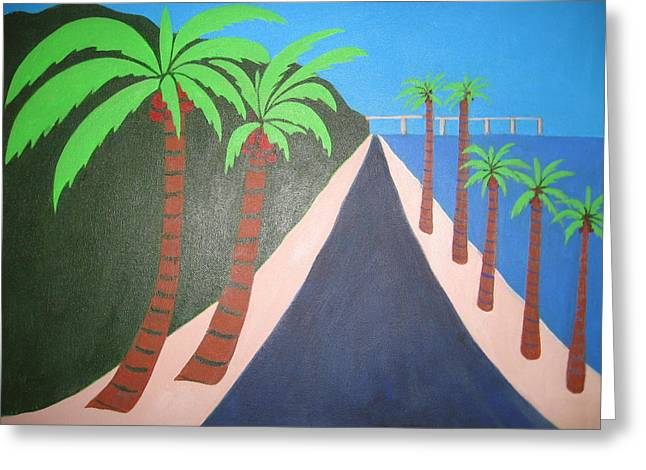 Beach Road Greeting Card by Sandra McHugh