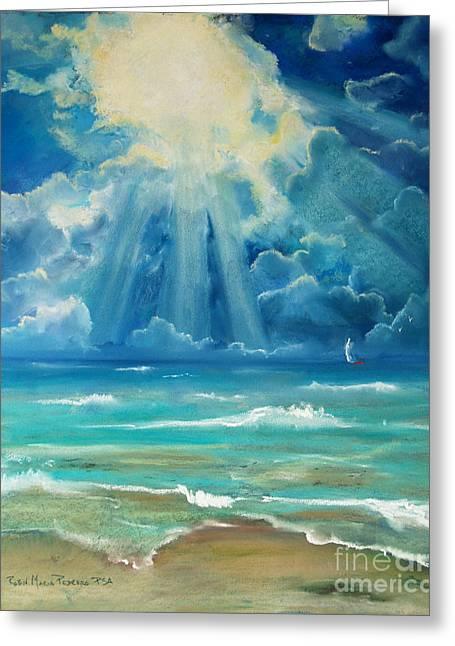 Beach Greeting Card by Robin Maria Pedrero