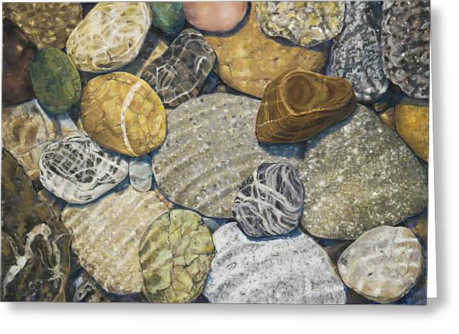 Beach Rocks 3 Greeting Card