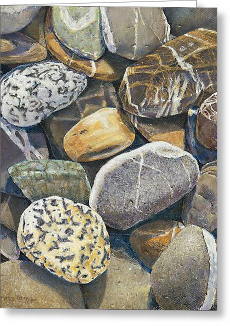 Beach Rocks 4 Greeting Card