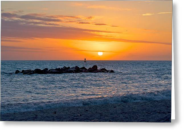 Beach Rocks Greeting Card by Vaughn Garner