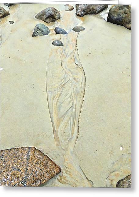 Beach Sand 4   Greeting Card by Marcia Lee Jones