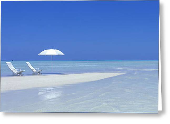 Beach Scene Digufinolhu Maldives Greeting Card