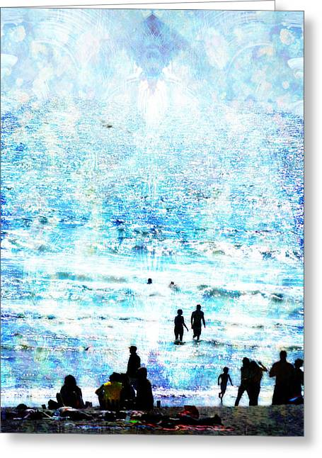 Beach Scene Expressions Greeting Card