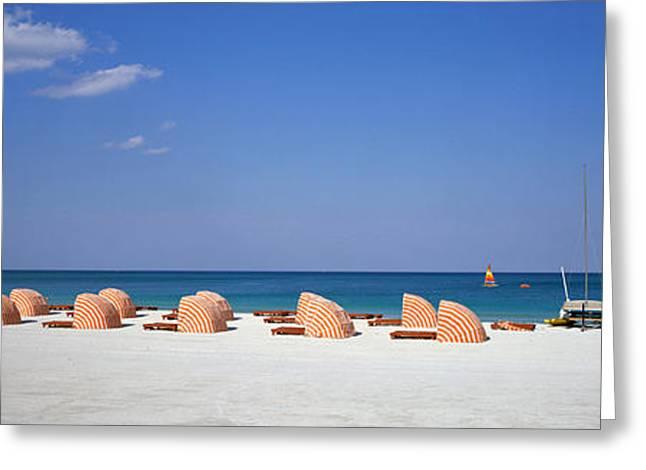 Beach Scene, Miami, Florida, Usa Greeting Card