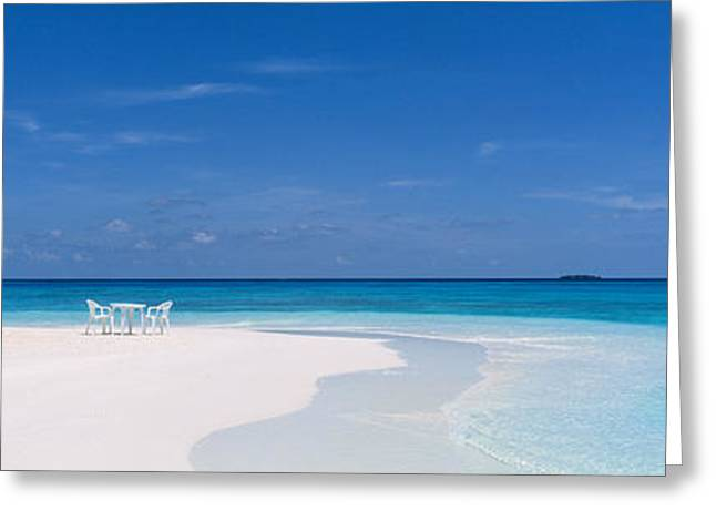 Beach Scene The Maldives Greeting Card