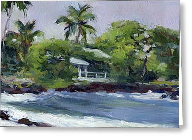 Beach Shadows Big Island Greeting Card