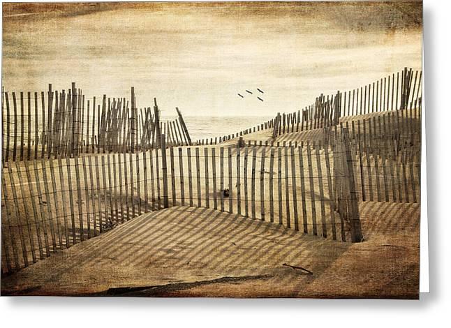 Beach Shadows Greeting Card