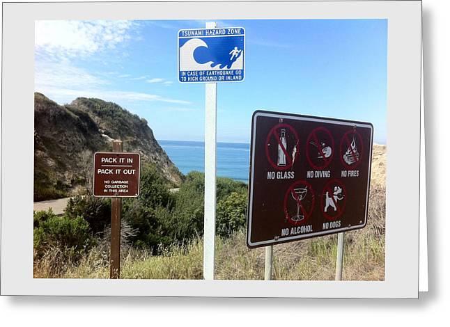 Beach Signs San Clemente Greeting Card