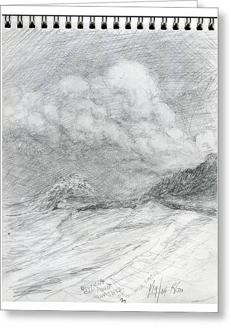 Beach Sketch 13 Greeting Card by Kenneth Grzesik