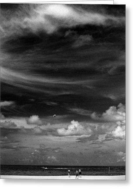 Greeting Card featuring the photograph Beach Sky People by Christopher McKenzie