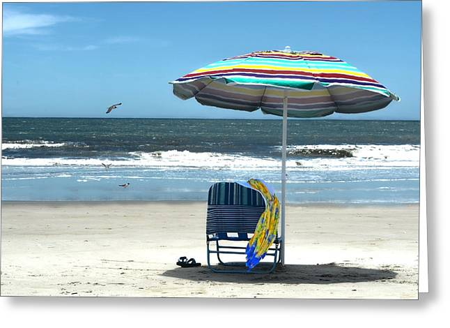Beach Solitude Greeting Card by Sandi OReilly