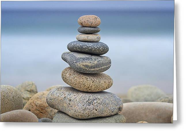 Beach Stones Greeting Card by Katherine Gendreau