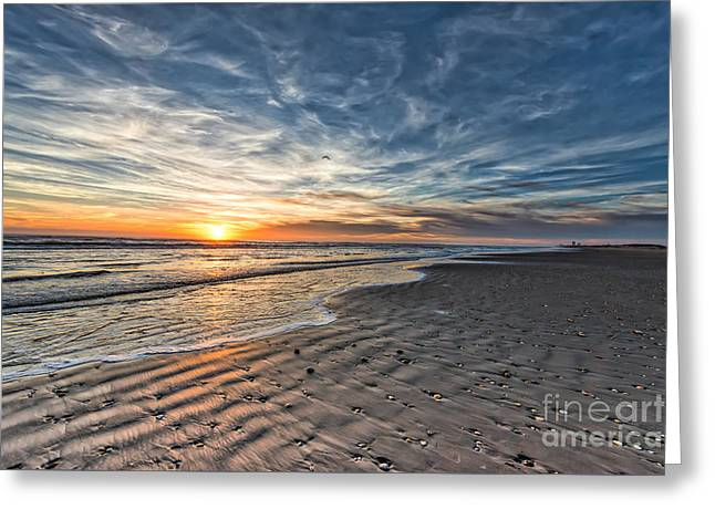 Beach Sunrise Greeting Card by Tod and Cynthia Grubbs