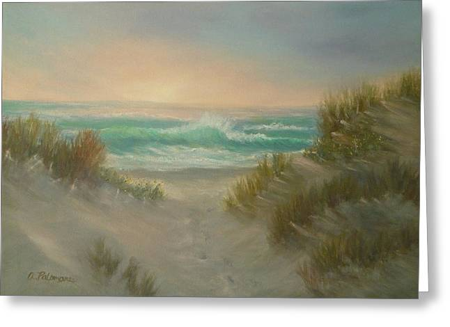 Cape Cod Beach Sunset Dunes Print  Greeting Card