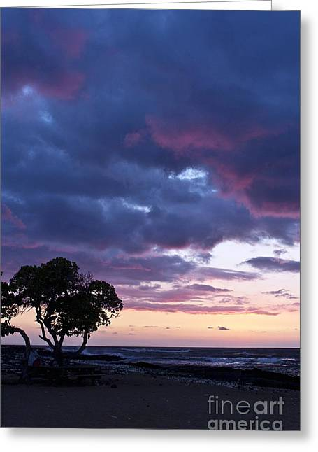 Beach Sunset Greeting Card by Karl Voss