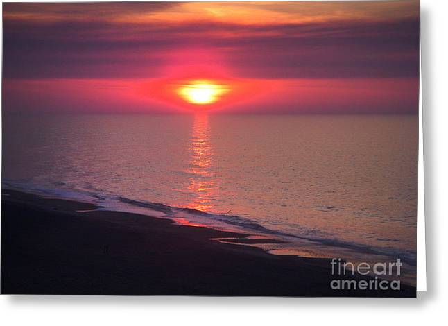 Beach Sunset Greeting Card by Stuart Mcdaniel
