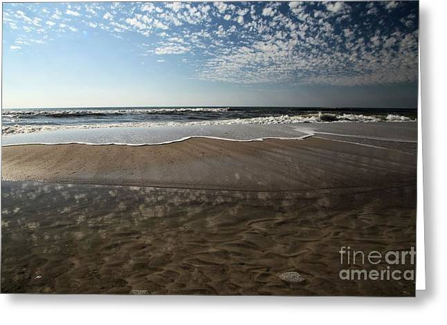 Beach Textures Greeting Card by Adam Jewell