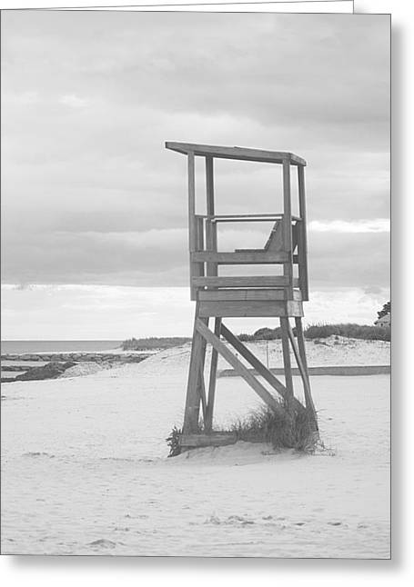 Beach Throne Harwich Ma Bw I Greeting Card by Suzanne Powers