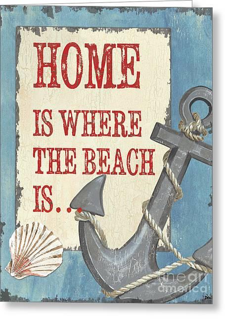 Beach Time 2 Greeting Card by Debbie DeWitt