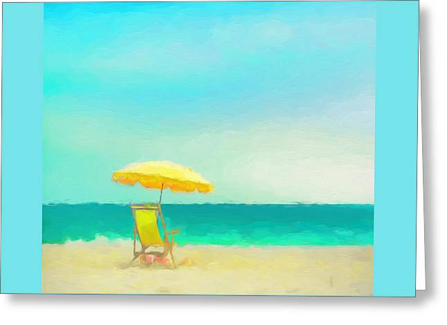 Greeting Card featuring the painting Got Beach? by Douglas MooreZart