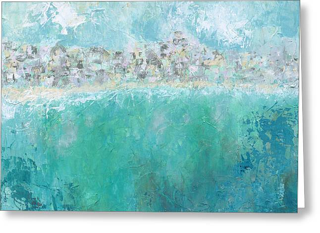 Beach Town Greeting Card by Kirsten Reed