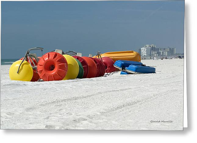 Beach Toys Greeting Card by Gerald Marella