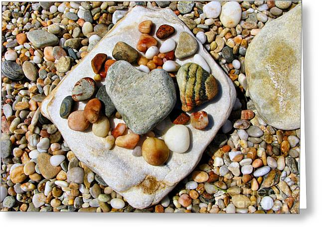 Beach Treasures Greeting Card by Daliana Pacuraru