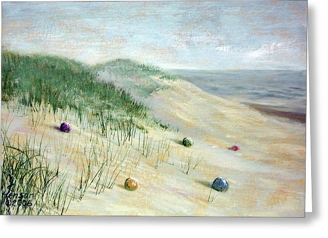 Beach Treasures Greeting Card by Kenny Henson