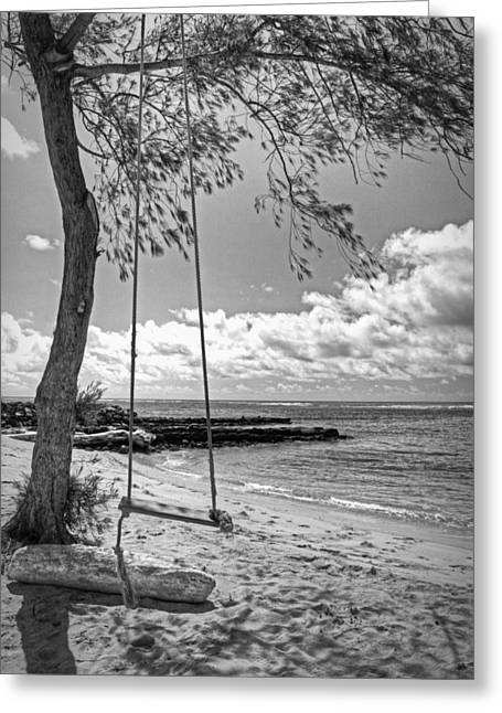 Beach Tree Swing Greeting Card