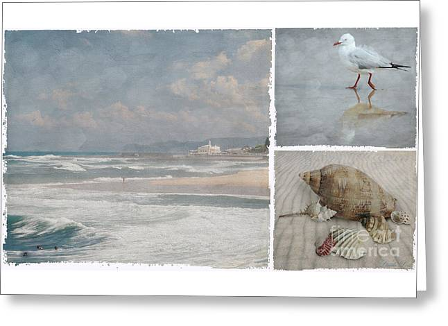 Beach Triptych 1 Greeting Card by Linda Lees