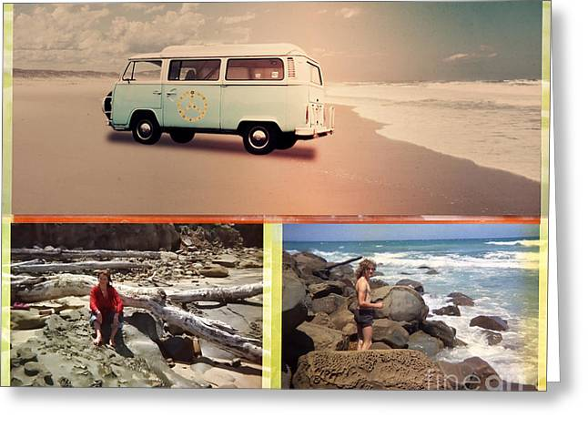 Beach Triptych 3 Greeting Card