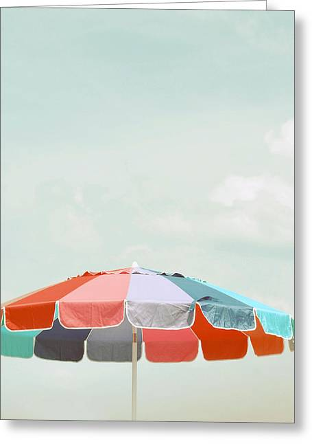 Beach Umbrella Greeting Card by Elle Moss