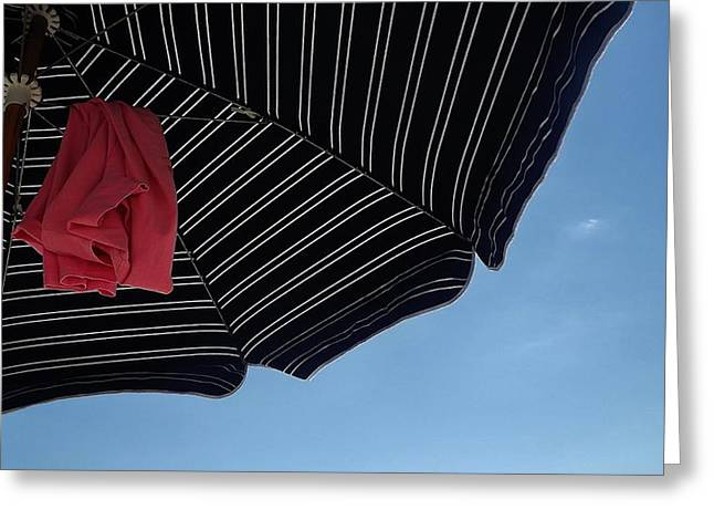 Beach Umbrella Greeting Card by John Wartman