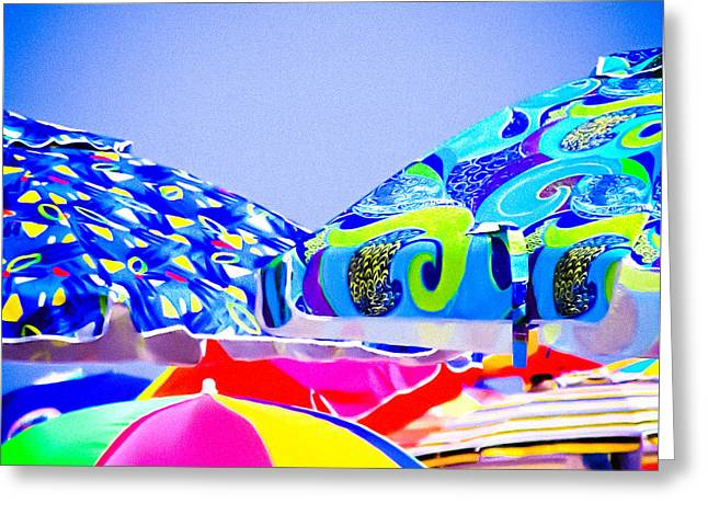 Beach Umbrellas Greeting Card by Colleen Kammerer