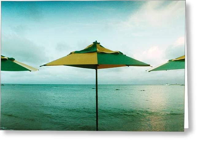 Beach Umbrellas, Morro De Sao Paulo Greeting Card