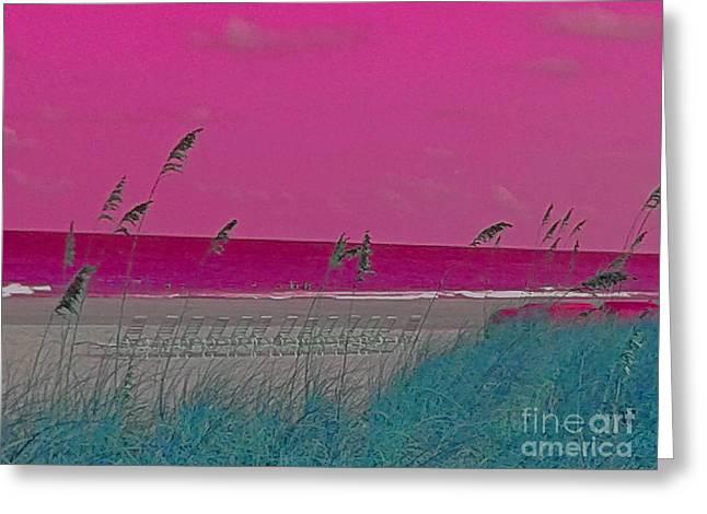 Beach Verizon 0841 3 Greeting Card by Nina Kaye
