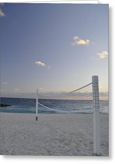Beach Volleyball Greeting Card by A R Williams