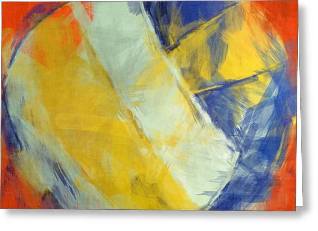 Beach Volleyball Abstract Greeting Card by David G Paul