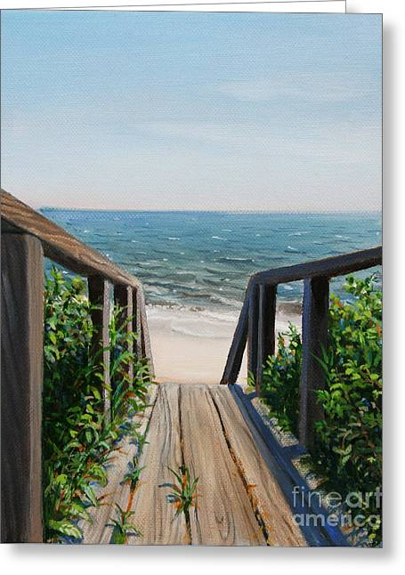 Beach Walk Way Greeting Card by Paul Walsh
