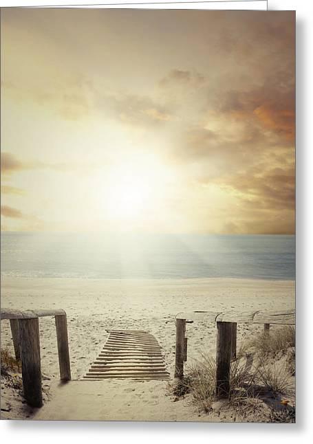 Beach Walkway Greeting Card